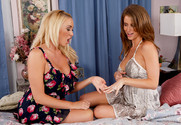 Emily Addison and Summer Brielle in mydadshotgirlfriend - Sex Position 1