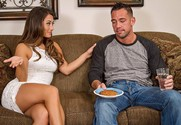 Eva Lovia and Johnny Castle in mydadshotgirlfriend - Sex Position 1