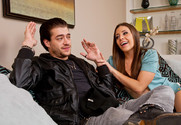 Gracie Glam and Xander Corvus in mydadshotgirlfriend - Sex Position 1