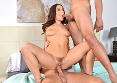 Lana Rhoades and Damon Dice and Seth Gamble in mydadshotgirlfriend