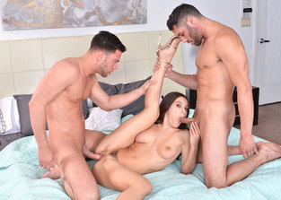 bbg Lana Rhoades and Damon Dice and Seth Gamble
