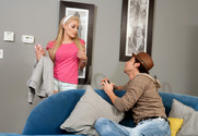Lou Lou and Seth Gamble in mydadshotgirlfriend - Sex Position 1