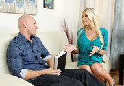 Riley Evans and Johnny Sins in mydadshotgirlfriend - Sex Position 1
