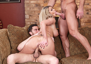 cum-on-pussy Brooklyn Chase and Johnny Castle and Seth Gamble