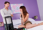 Jaslene Jade and James Deen in myfriendshotgirl - Sex Position 1