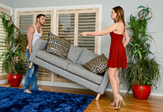 Melissa Moore and Seth Gamble in myfriendshotgirl - Sex Position 1