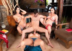 Ariella Ferrera and Dana DeArmond and Reagan Foxx and Logan Long in myfriendshotmom