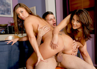 threesome Bobbie Lennox, Honey White and Anthony Rosano