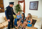 Julia Ann, Brandi Love, Eva Karera and Johnny Castle in myfriendshotmom - Sex Position 1