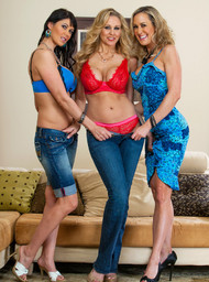 Julia Ann, Brandi Love, Eva Karera and Johnny Castle in myfriendshotmom - Centerfold