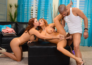 cum-swapping Janet Mason, Tara Holiday and Xander Corvus